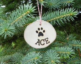 Personalized Christmas wood ornament, Personalized wood ornament, Christmas pet ornament, Personalized pet ornament Christmas, Pet lover