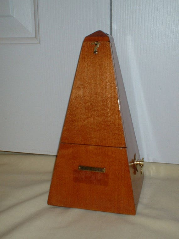 Restored Seth Thomas Wood Maelzel Metronome No 7 Light