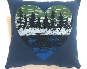 Lake Life,   Wilderness Pillow, Throw Pillow, Home Decor, Nature Lover Gift