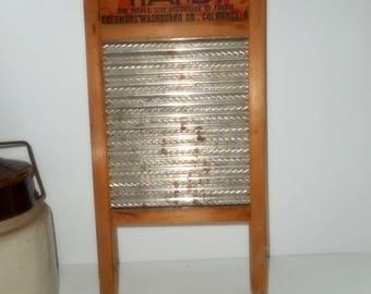 Small Scrub board, Kitchen Primitive, Lingerie Wash board, Vintage Laundry, Farmhouse Vintage