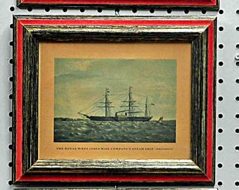 Vintage 3 FRAMED Nautical CLIPPER SHIPS, in Original Professional Framing, Price is for all Three! Excellent Condition !