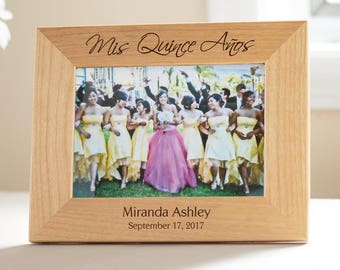 Mis Quince Años Picture Frame: Personalized Quince Gift, Personalized Quinceañera Gift, Quinceañera Picture Frame, Quince Picture Frame
