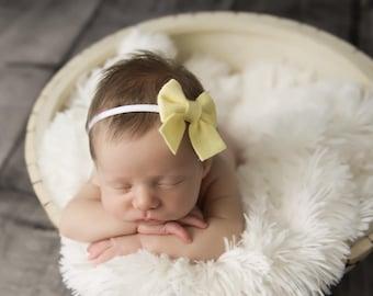 Baby Girl Headband, Sailor Bow, Baby Headband, Nylon Headband, Newborn Bows, Baby Bows, Hair Bows, Girls Hair Clips, Schoolgirl Bows, Bows