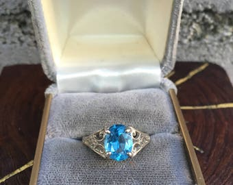 Blue Sparkly Ring