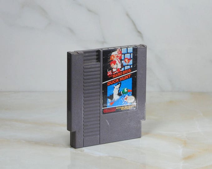 Vintage Nintendo Game, Super Mario Bros, Duck Hunt, Sunsoft, Nintendo, 1988