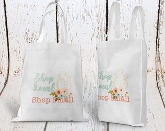 Shop Local Shop Small Tote Bag, Custom Tote Bag, Shopping Tote Bag