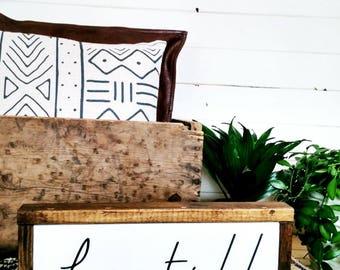 Be Still, Inspirational Saying Decor, Boho Bedroom Decor, Hygge Decor, Wooden Wall Sign, Yoga Wall Art, Apartment Gift under 50