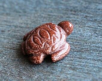 Goldstone Stone Sea Turtle Figurine F82