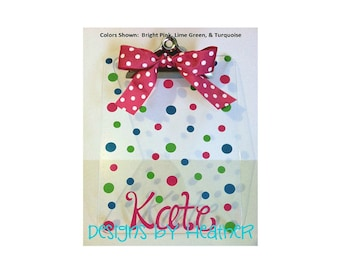 Personalized Clipboard (Polka Dots)