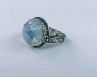 Moonstone Ring in Small Size of Sterling Silver