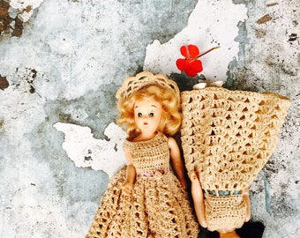 Vintage Hard Plastic Dolls||Art Supplies||Creepy Babies||Macabre||Altered Art Supplies||Doll Collectibles||Crocheted Doll Clothes||Oddities