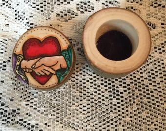 Handmade Goddess Ring Box. Ring Bearer, Pagan Handfasting Engagement Wedding
