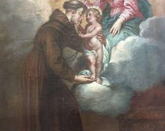 Saint Antoine de Padoue . Oil painting