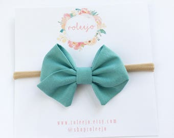 Dusty Blue Sailor Bow; Baby Girl, Toddler, Girl Hair Accessories