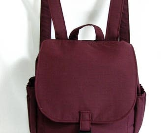 Small backpack- Mulberry cotton