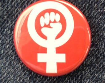 Retro 1980s Feminist Button