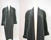 Velvet Evening Coat / Vtg...