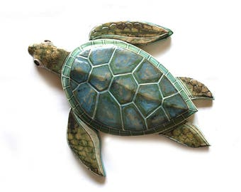 Sea turtle sculpture, MADE TO ORDER, Turtle sculpture, Wall turtle sculpture, Sea turtle decor, Sea turtle art, Turtle art decor