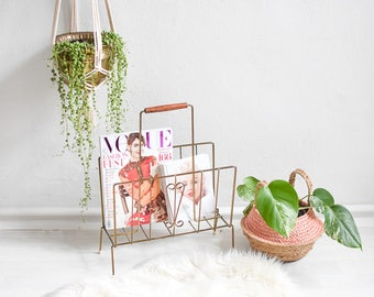 News rack, newspaper rack, magazine holder, magazine rack, book rack, boho decor, rustic decor, magazine storage, newspaper storage
