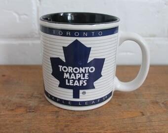 toronto maple leafs coffee mug 1994 NHL hockey glass cup tea