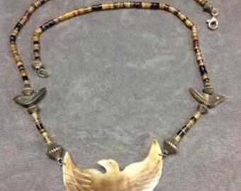 abalone thunderbird necklace