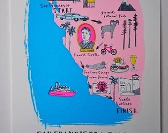 California Road Trip Map