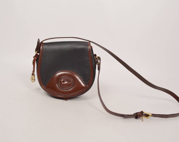 Dooney & Bourke Equestrian Saddle Bag All Weather Leather crossbody vintage