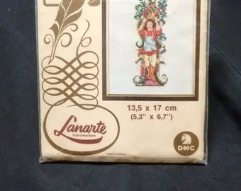 "DMC Lanarte Cross Stitch Illuminated Letter ""I"" in original packaging NO NEEDLE"