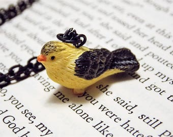 Goldfinch Charm Necklace