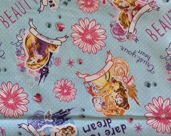 Child's Long Sleeve Art Smock -  Disney Princess - Light Blue