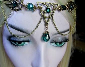 Triquetra Circlet, Bronze Headdress, Handfasting Headdress, Celtic Circlet, Ren Faire Circlet, Choose Color