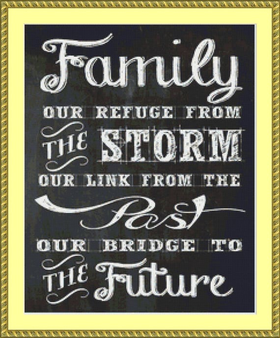 The Family Cross Stitch Pattern /Digital PDF Files /Instant downloadable