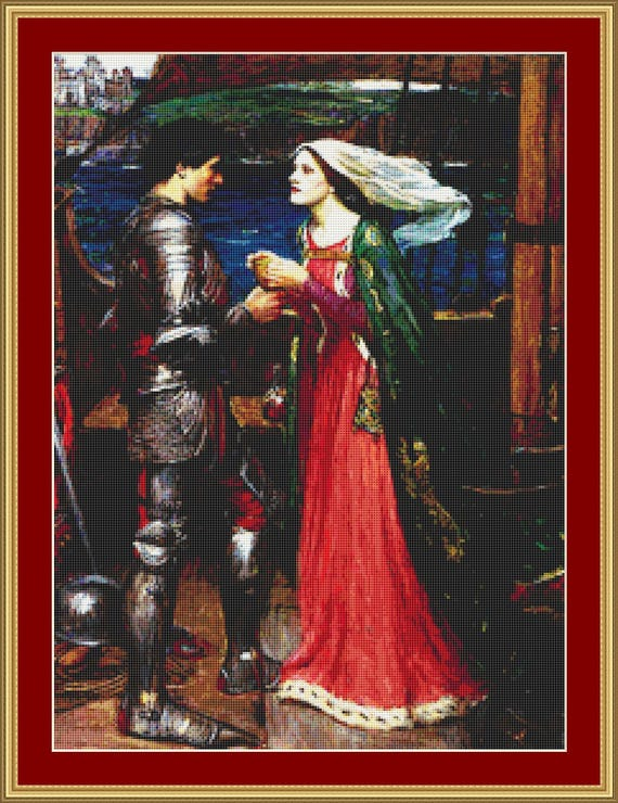 Tristan And Isolde Cross Stitch Pattern /Digital PDF Files /Instant downloadable