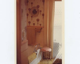Vintage Snapshot Photo: Bathroom Interior, 1973 [82648]