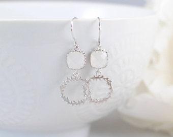 The Farah Earrings - White