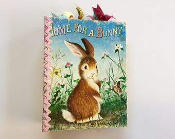 Junk Journal - Vintage Little Golden Book - Home For A Bunny - Smash Book - Scrapbook - Diary