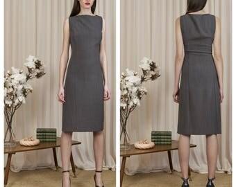 vintage 90s ARMANI sleeveless minimalist shift dress