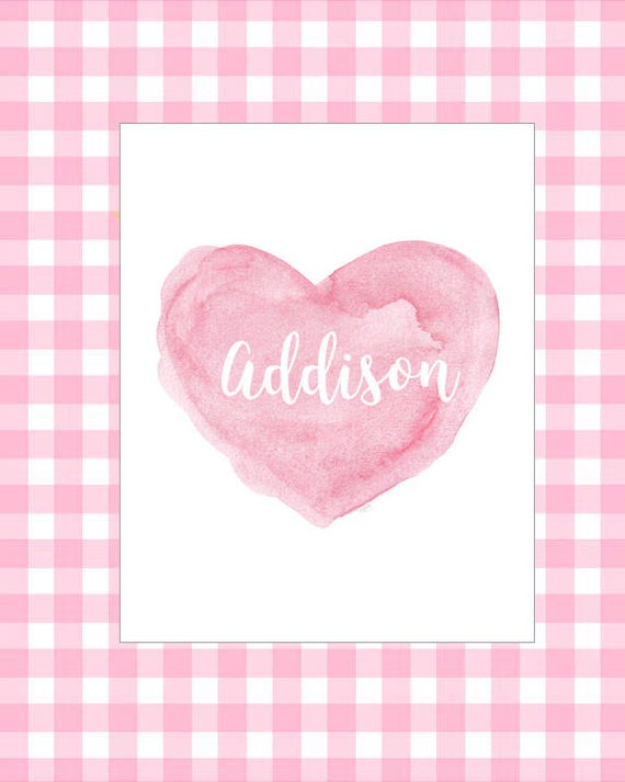 Pink Baby Gift for New Mom, 8x10 Personalized Print