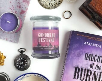 Gomorrah Festival // Daughter of the Burning City 8oz Jar Scented Soy Candle