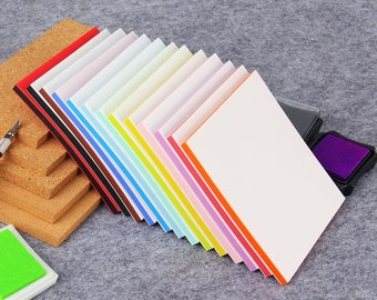 DIY Rubber Block - Rainbow Rubber - Layer Stamp Rubber - Stamp Carving - 15cm x 10cm - 13 colors available