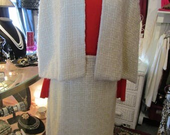 Vintage 1960s Hand Woven Skirt and Cape