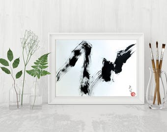 Black and White Wall Art Black and White Painting Original Abstract Painting Black and White Art Original Abstract Art Modern Minimalist Art