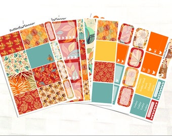 Fall In Love Full Sticker Kit for Erin Condren Planner, Autumn Stickers