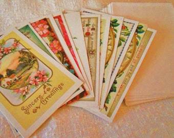 "12 Vintage Gorgeous Reader's Digest Blank Victorian Cards w Envelopes RARE 5.5"" x 3.5"" Collectible Shabby Chic Style Greeting Card Blanks"