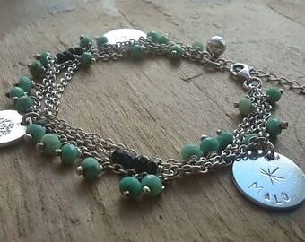 Silver bracelet 925 gemstones