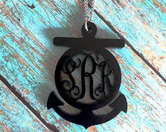 Anchor Monogram Necklace