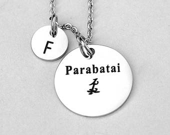 "Stainless Steel Charm "" Parabatai "" Stainless Steel Charm Necklace, Stainless Steel Chain,  Shadowhunter Inspired , Gift For Her,"