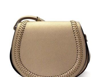 Classic Bella Crossbody Bag- Pewter