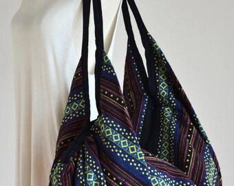 Nepali Fabric Design Hippie Shoulder Bag Gypsy Bag Boho Hobo Bag Tote Bag Crossbody Bag Diaper Bag Woven Cotton Handbag Purse (Madison)