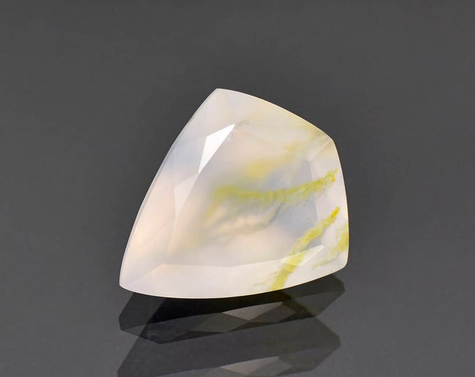 Fascinating Purple Chalcedony Gemstone with Epidote Inclusions from Mexico 13.22 cts.